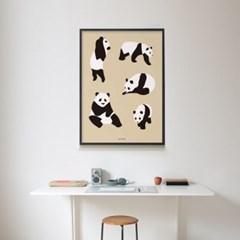 유니크 인테리어 디자인 포스터 M 자이언트판다 팬더