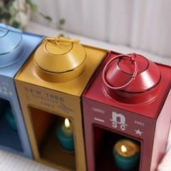 빈티지 스타일 철제 사각 촛대(캔들 홀더)