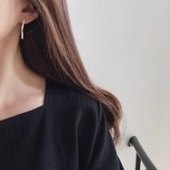 Layer drop earring (드롭 귀걸이) [92.5 silver]
