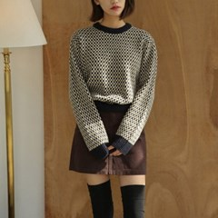 vintage square check knit