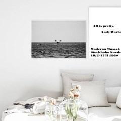 북유럽 거실인테리어 액자 풍경사진 바다 고래 파도