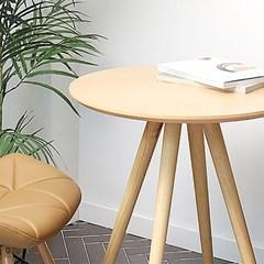 오프너 600 원목 테이블 (원형)