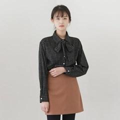 [마이블린] 플래드 리본 셔츠 (3color)_(534922)