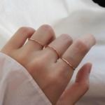 [1+1]실버 로즈 심플 반지 silver rose simple ring