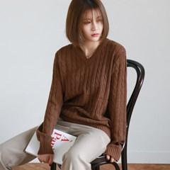 Every twist v-neck knit
