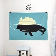 패브릭 포스터 F100 동물 그림 북극곰과 고래