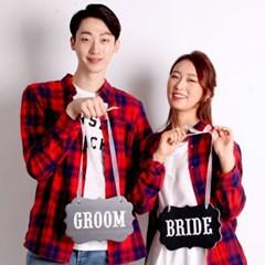 웨딩촬영 행거세트 (BRIDE/GROOM) 블랙