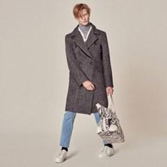 UTO-FC01 자수 헤링본 더블 울코트[grey(UNISEX)]
