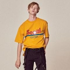UTT-FT03 서울 슬로건 오버사이즈 티셔츠[yellow(UNISEX)]