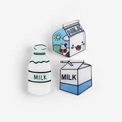 우유 아크릴 뱃지