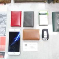 천연가죽 자석식 명함케이스 - x 스티치 / Magnet Card Case