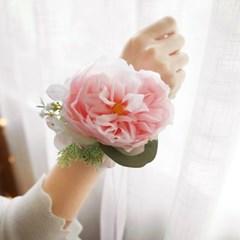 브라이덜샤워 꽃팔찌 - 쉬폰로즈_(537294)