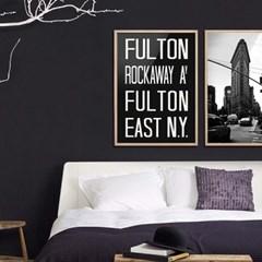 NYC 서브웨이 사인 포스터 (FULTON) - A1 A2 A3 A4