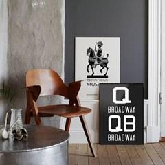 NYC 서브웨이 사인 포스터 (QQB) - A1 A2 A3 A4