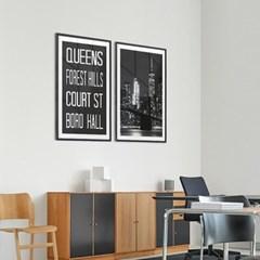 NYC 서브웨이 사인 포스터 (QUEENS) - A1 A2 A3 A4