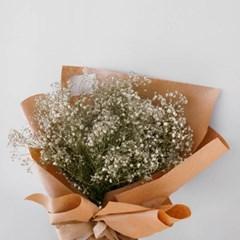 화이트 안개꽃 볼륨 꽃다발(드라이플라워)