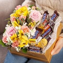FN2314 You&Me 유앤미(꽃+초콜렛) 꽃바구니