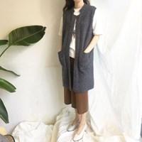 Knit Long VEST (3-color)