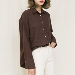 [마이블린] 피치 루즈핏 셔츠 (4color)_(538015)