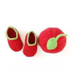 니팅키트- 아기 사과 모자