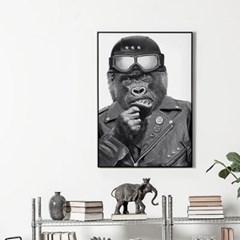메탈 북유럽 동물 그림 액자 헬멧 고릴라