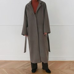 [MONDAY STUDIO] Daily belted long coat