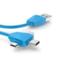 크레앙 3in1 라이트닝/USB/TYPE C 케이블(CRECB3IN1)