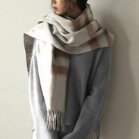 wool coloration muffler
