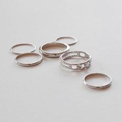 Layered ring set 013 (6p)