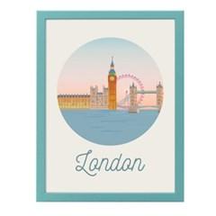 런던 일러스트 포스터 (액자판매)