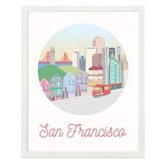 샌프란시스코 일러스트 포스터 (액자판매)