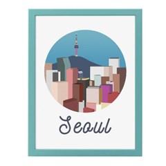 서울 일러스트 포스터 (액자판매)