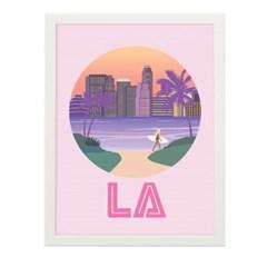 로스앤젤레스 일러스트 포스터 (액자판매)