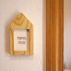 화이트애쉬 원목 도어사인 미니멀 하우스