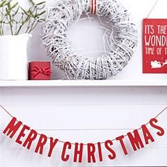메리 크리스마스 우드 가랜드