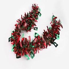 크리스마스 레드그린 트리 장식모루