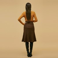 Mermaid Line Skirt in Brown