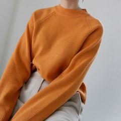 Raglan simple wool knit