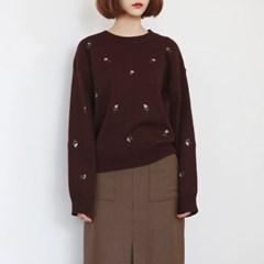 Flower needlepoint knit