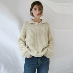 Cozy collar knit