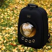 제이케이디어 우주선가방 /고양이,강아지 백팩 - BLACK