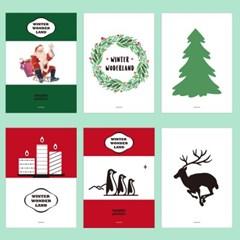 겨울 인테리어 디자인 포스터 M 윈터 원더랜드 12종 대형(A2)모음