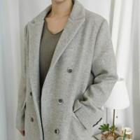 [WOOL70] 헤링본 투버튼 클래식 코트 (2-COLORS)