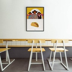 유니크 인테리어 디자인 포스터 M 타코브라더스 멕시코음식