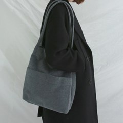 Soft fleece shoulder bag