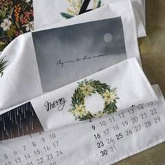[완제품] 2018 POSTER CARD CALENDAR (감성 패브릭 달력 2018)