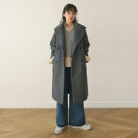 Winter wool lapel coat