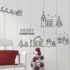 크리스마스마을 스티커_ 어린이집, 교회장식 데코스티커