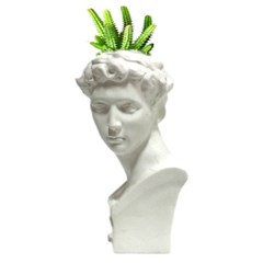 인테리어 석고상화분 쥴리앙 20cm내외 공기정화식물 선인장 화분