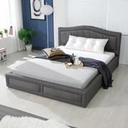 가구데코 프라하 패브릭 Q 침대 (매트별매)
